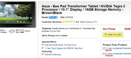 Asus Eee Pad Transformer Tablet Best Buy