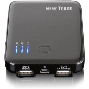 New Trent iDual-Port Pack IMP50D 5000mAh External Battery Pack and Charger