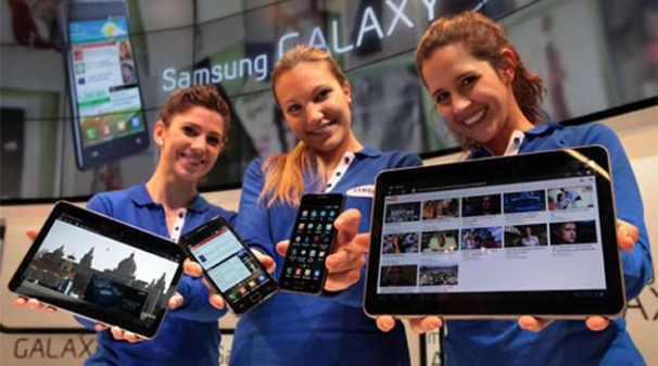 samsung galaxy smartphone tabelt